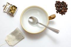 Thé ou café ? Image libre de droits