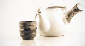 Thé pot-chaud Image libre de droits