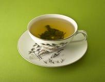 thé proche de cuvette vers le haut Image stock