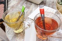 Thé rouge et vert Photographie stock
