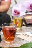 Thé rouge et vert Image libre de droits