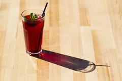 Thé rouge frais avec la menthe et la glace Photographie stock
