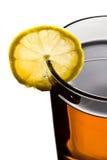 Thé sur la cuvette de citron Photographie stock libre de droits