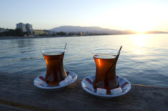 Thé turc, Turquie-Samsun-Atakum Photos stock