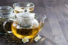 Thé vert avec le jasmin Images stock