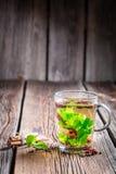 Thé vert chaud photo stock