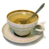 thé vert de cuvette Photographie stock libre de droits