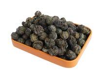 thé vert de granules Photos libres de droits