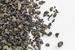 Thé vert de Gunpowdert Image libre de droits