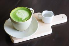 Thé vert de Latte de Matcha images libres de droits