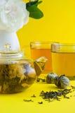 thé vert de lotus Image stock
