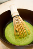 Thé vert de mélange de Matcha de Japonais Images libres de droits