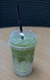 Thé vert de matcha de glace Photographie stock