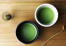 Thé vert de matcha oriental japonais original Photographie stock
