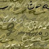 Thé vert de séquence type illustration libre de droits
