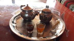 Thé vert et noir Photo libre de droits