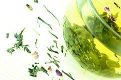 Thé vert japonais Photographie stock libre de droits