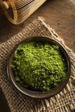 Thé vert organique cru de Matcha Images stock