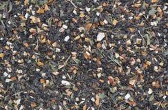 Thé vert sec avec la texture de citron Image libre de droits