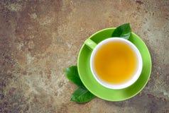 Thé vert, vue supérieure photo libre de droits
