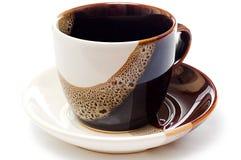 thé vide de cuvette en céramique Photographie stock libre de droits