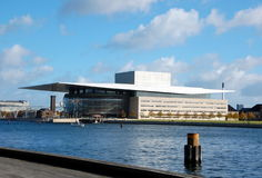 Théatre de l'opéra à Copenhague Image libre de droits