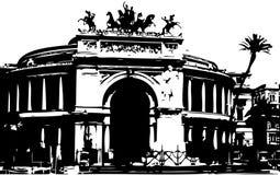 Théatre de l'$opéra à Palerme Images libres de droits