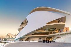Théatre de l'opéra à Valence, Espagne Images libres de droits