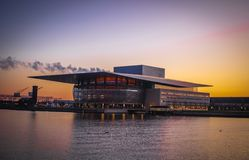Théatre de l'opéra de Copenhague photos stock