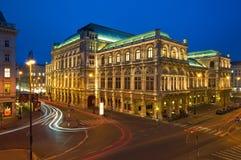 Théatre de l'opéra d'état de Vienne, Autriche Photos stock