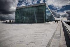 Théatre de l'$opéra d'Oslo Photographie stock libre de droits