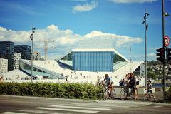 Théatre de l'opéra d'Oslo Photos libres de droits