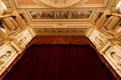 Théatre de l'opéra de Dresde d'intérieur photo stock