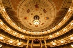 Théatre de l'opéra de Dresde d'intérieur photographie stock