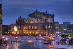 Théatre de l'$opéra de Dresde dans HDR Photo stock