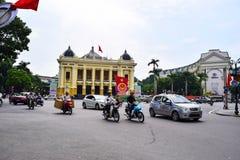Théatre de l'opéra de Hanoï L'ha de NOI est le capital et la deuxième plus grand ville au Vietnam image libre de droits