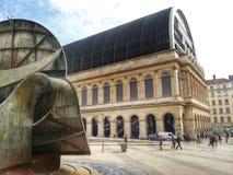 Théatre de l'opéra de Lyon, vieille ville de Lyon, France Photographie stock libre de droits