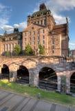 Théatre de l'opéra de Nuremberg et station d'U-bahn Image libre de droits