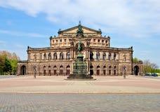 Théatre de l'$opéra de Semper, Dresde Photos libres de droits