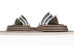 Théatre de l'opéra de Sydney d'isolement sur le fond blanc Photographie stock libre de droits