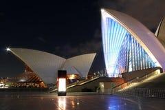 Théatre de l'$opéra de Sydney dans la nuit Photographie stock