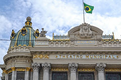 Théatre de l'opéra en Rio de Janeiro photographie stock libre de droits