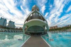Théatre de l'opéra, Palaos de les Arts Reina Sofia à Valence, Espagne Image stock