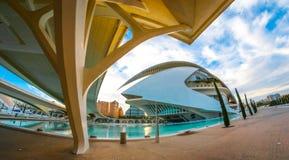 Théatre de l'opéra, Palaos de les Arts Reina Sofia à Valence, Espagne Photos stock
