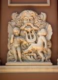 Théatre de l'$opéra Saigon de statue de Neptune vieux Images stock