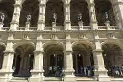 Théatre de l'$opéra, Vienne, Autriche Images stock