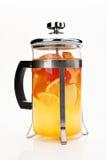 Théière avec le thé images libres de droits