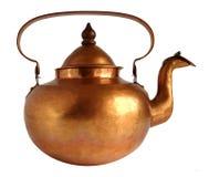 Théière de cuivre antique image libre de droits