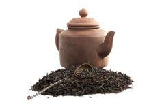 Théière de la cuillère et du thé photo libre de droits