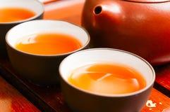 Théière et tasse chinoises Photo libre de droits